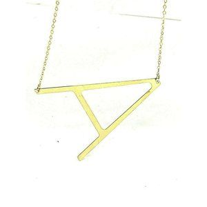 A Initial Letter Pendant Sideways 14k Yellow Gold